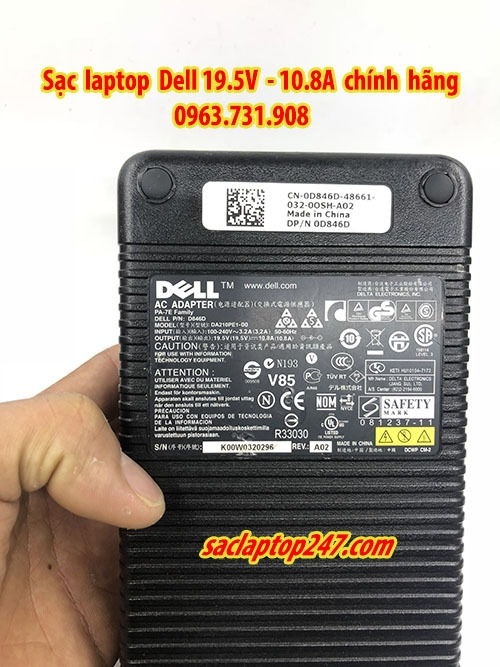 sạc laptop dell 19,5v 10,8a